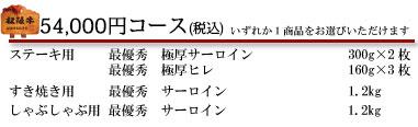 54,000円コース